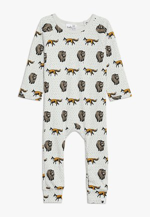 BABY THE FOX AND THE BEAR LONG ROMPER - Pyjamaser - pale stone