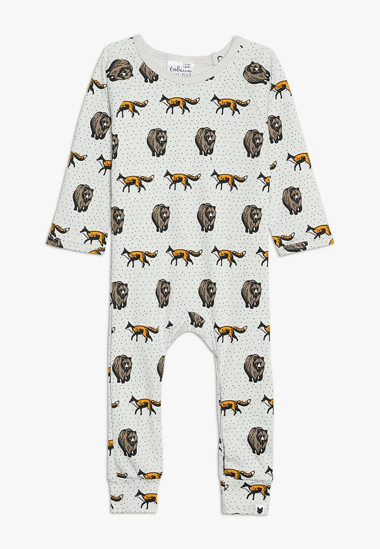 Tobias & The Bear - BABY THE FOX AND THE BEAR LONG ROMPER - Pyjamaser - pale stone
