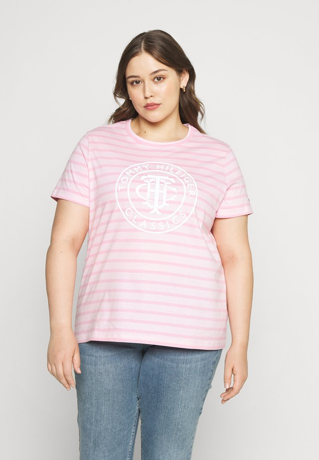 COOL RELAXED - Print T-shirt - breton/frosted pink