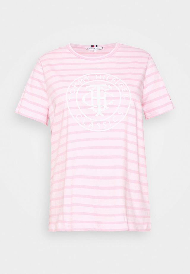 COOL RELAXED CURVE - T-shirt med print - breton/frosted pink