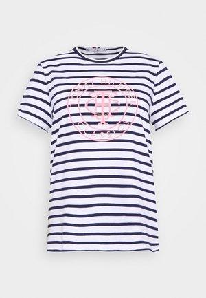 COOL RELAXED CURVE - T-shirt print - breton/white desert sky