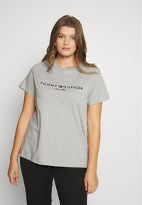 Tommy Hilfiger Curve - TEE CURVE - T-shirt print - light grey heather - 0