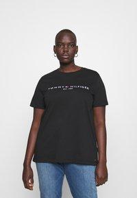 Tommy Hilfiger Curve - TEE CURVE - T-shirt print - black - 0