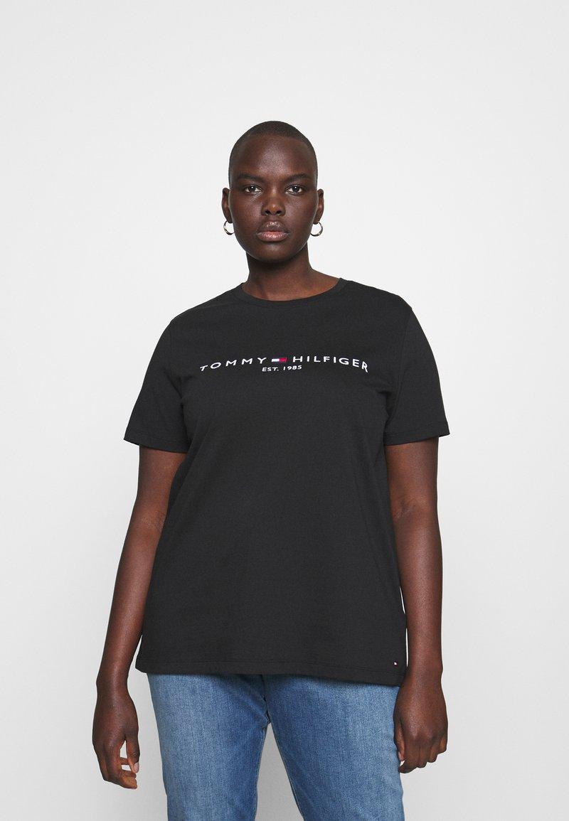 Tommy Hilfiger Curve - TEE CURVE - Print T-shirt - black