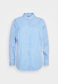 Tommy Hilfiger Curve - ESSENTIAL SHIRT CURVE - Button-down blouse - white/copenhagen blue - 0