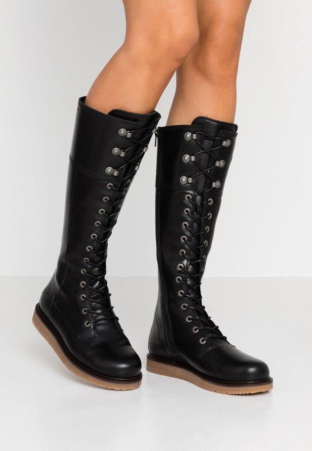 CARINA - Snørestøvler - black