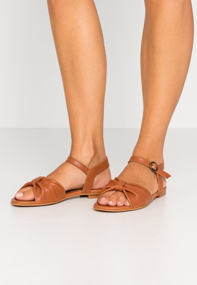 MATHILDA - Sandals - cognac