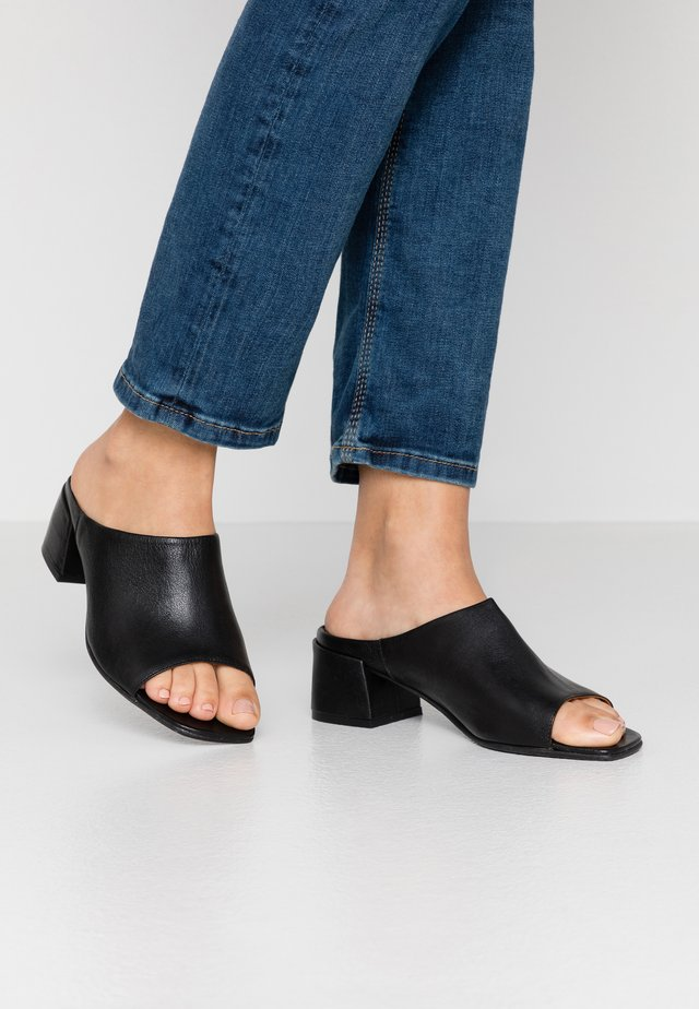 MIU - Heeled mules - black