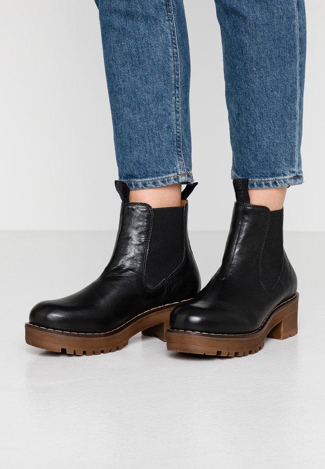 CLARISSE - Platform ankle boots - black