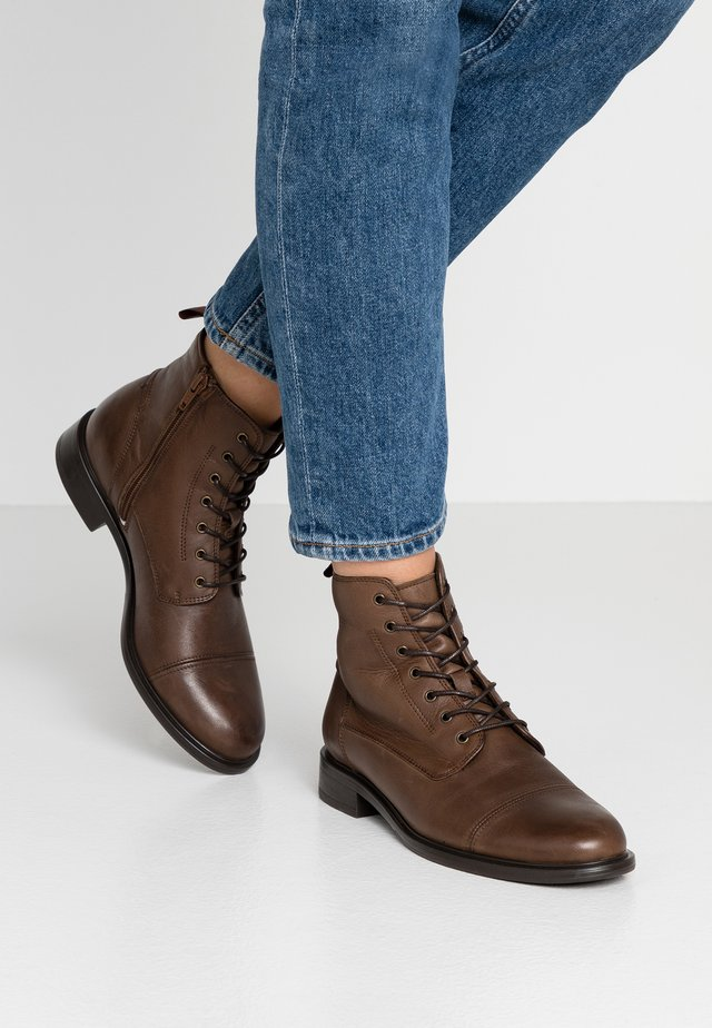 DAKOTA - Lace-up ankle boots - brown