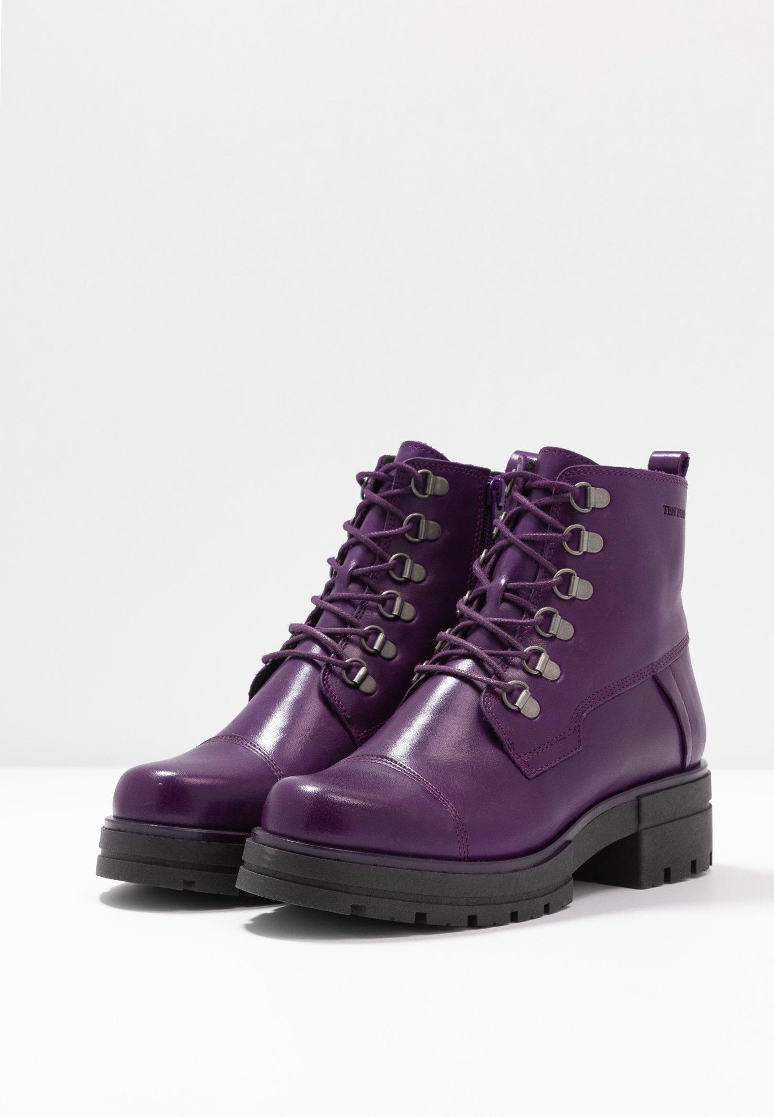 Ten Points ALICE - Stivaletti con plateau dark purple