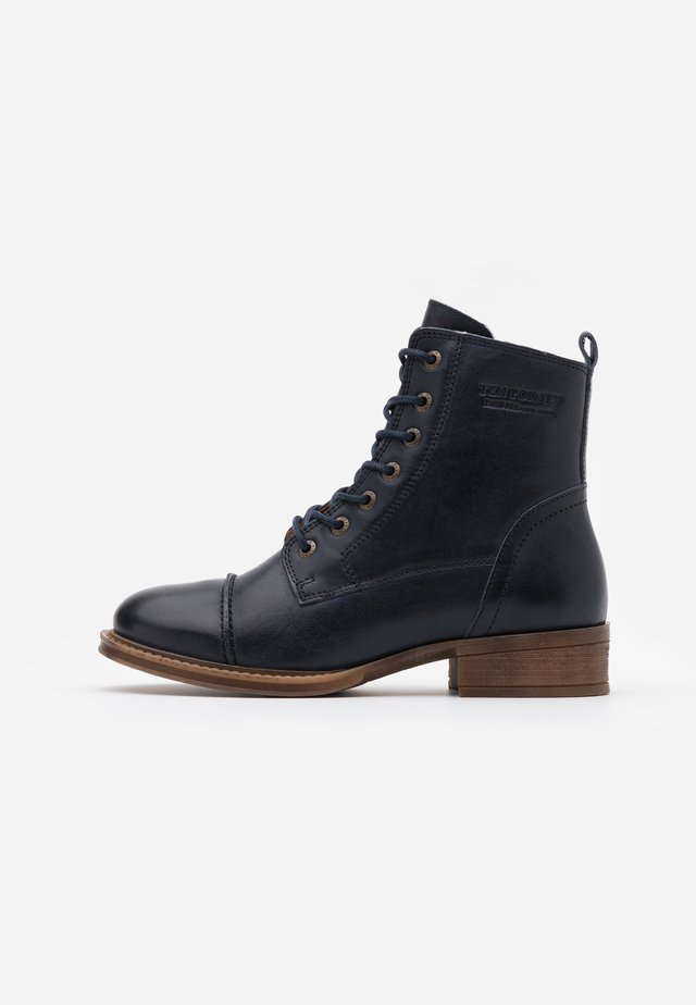 Bottines à lacets - midnight blu