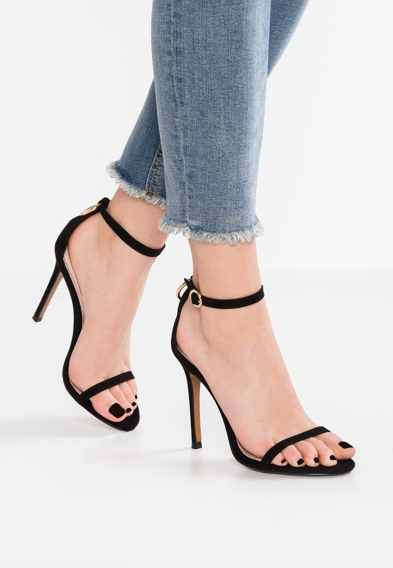 Topshop - ROMEO RING BACK - High Heel Sandalette - black