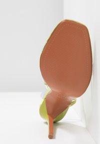 Topshop - TOE - Sandalen met hoge hak - lime - 6