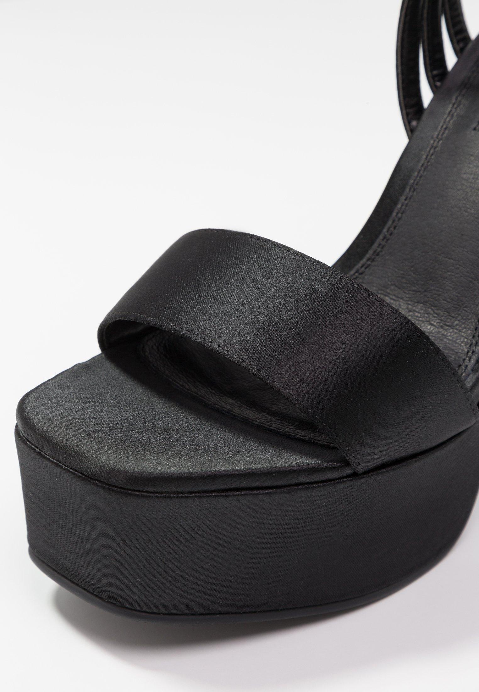 Topshop Ringo Platform - Sandales À Talons Hauts Black