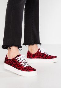 Topshop - CANDY LACE UP TRAINER - Sneakers - red - 0