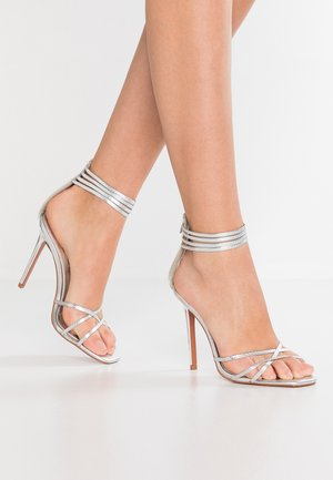 RICH STRAPPY  - High heeled sandals - silver