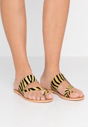 HONEY - Sandalias de dedo - yellow