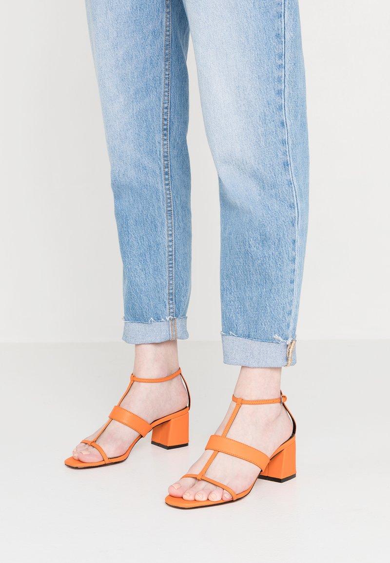 Topshop - RIBBON - Sandalias - orange