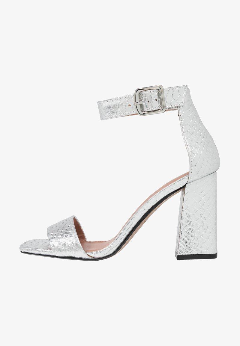 Topshop - SUKI BLOCK  - Sandály na vysokém podpatku - silver
