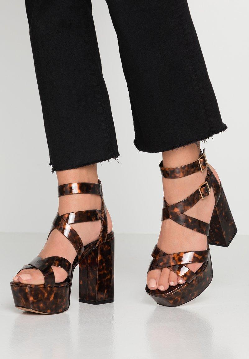 Topshop - RADICAL - High heeled sandals - tort