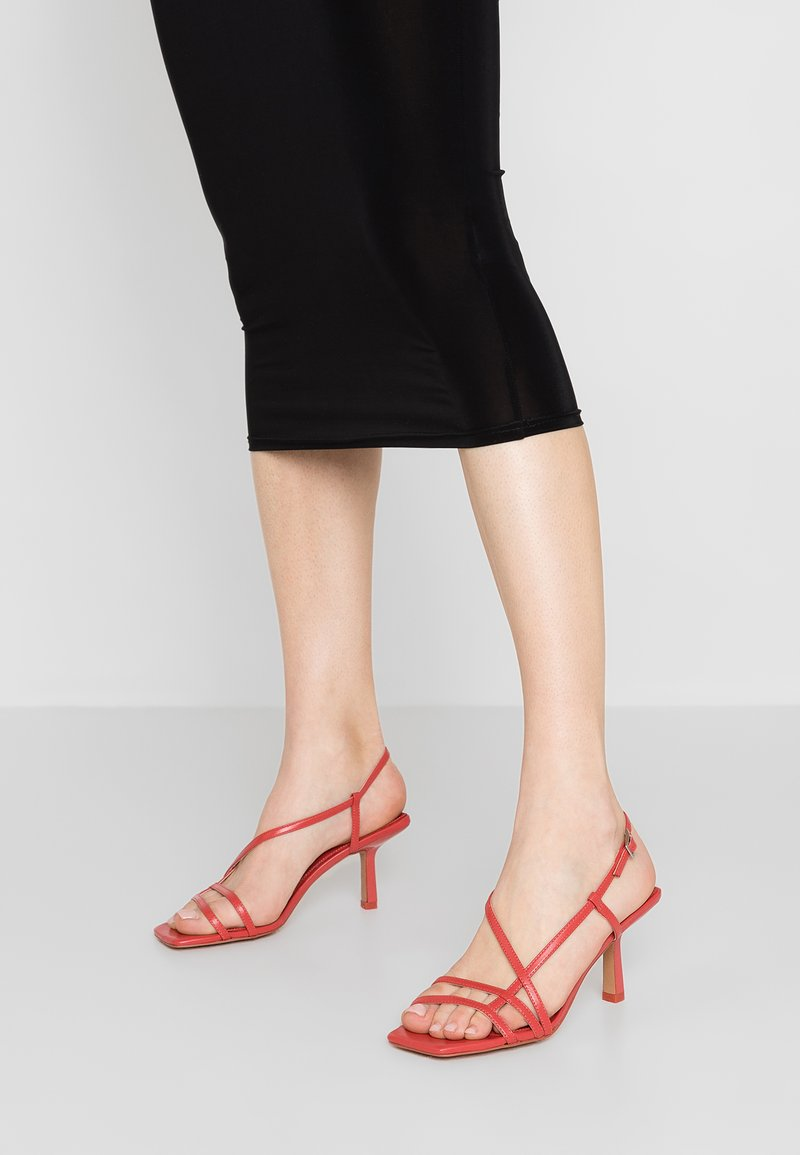 Topshop - ROME STRAPPY - Sandály - coral