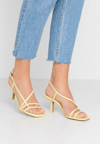 Topshop - ROME STRAPPY - Sandals - lime - 0
