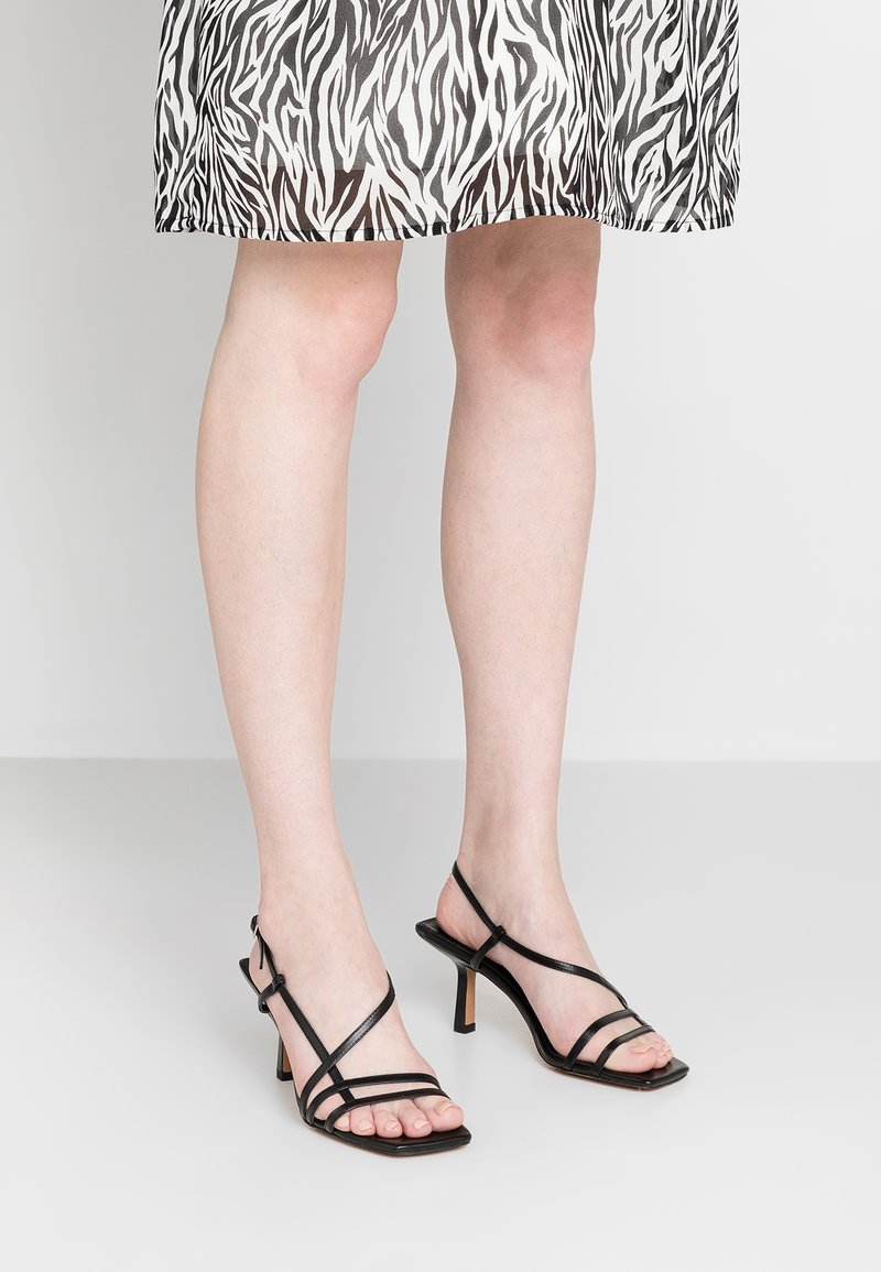 Topshop - ROME STRAPPY - Sandals - black