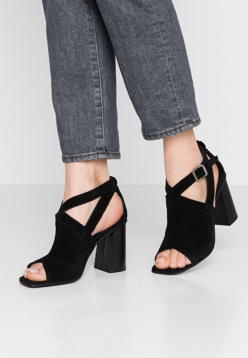 Topshop - NARNIA BLOCK - High Heel Sandalette - black