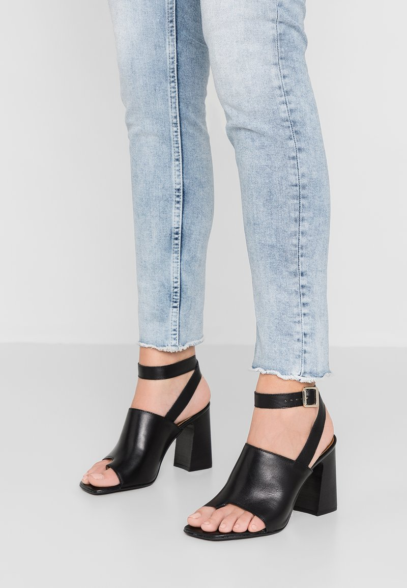 Topshop - NIEVE BLOCK - High heeled sandals - black