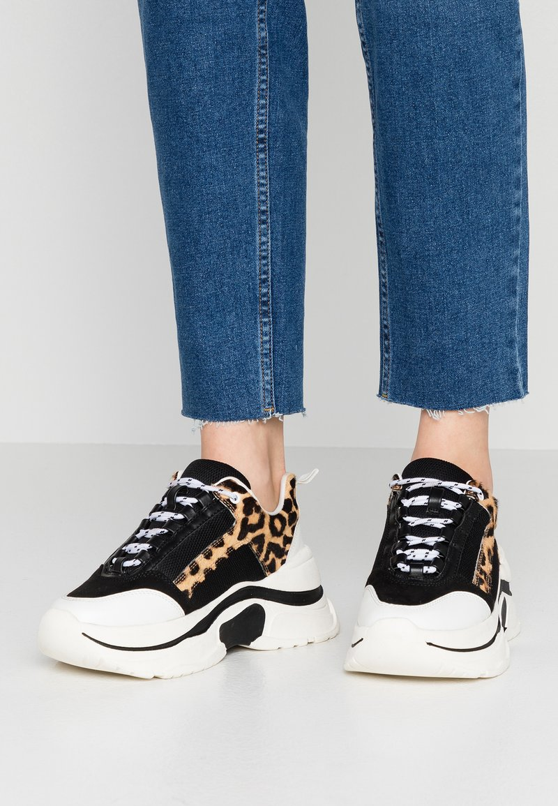 Topshop - CELINA TRAINER - Trainers - brown
