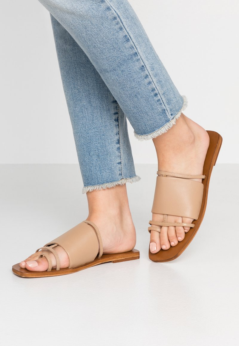 Topshop - FORTUNE - T-bar sandals - nude