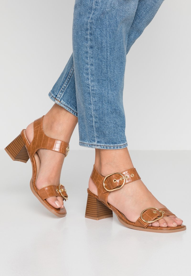 Topshop - DOLLY BUCKLE - Sandals - tan