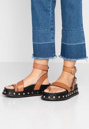 FAWN - T-bar sandals - tan