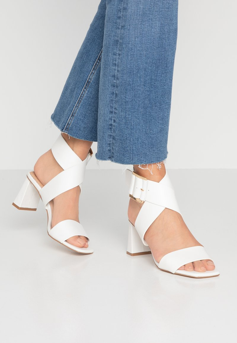 Topshop - NATALIA BUCKLE - Sandals - white