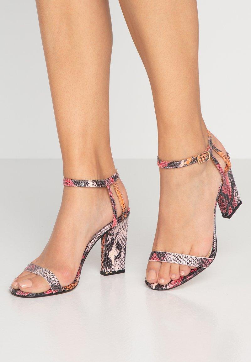 Topshop - ROLO STRAP  - High heeled sandals - multicolor