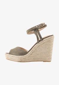 Topshop - WHITNEY WEDGE - Sandály na vysokém podpatku - khaki - 1