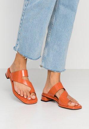 VEGAN NOAH FLAT TOE LOOP - T-bar sandals - orange
