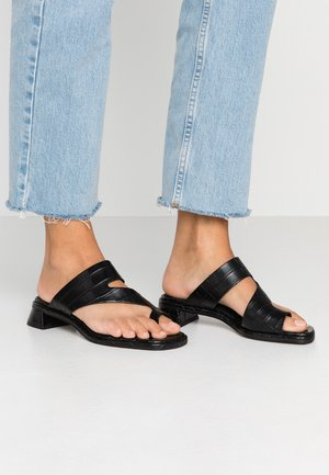 VEGAN NOAH FLAT TOE LOOP - Infradito - black