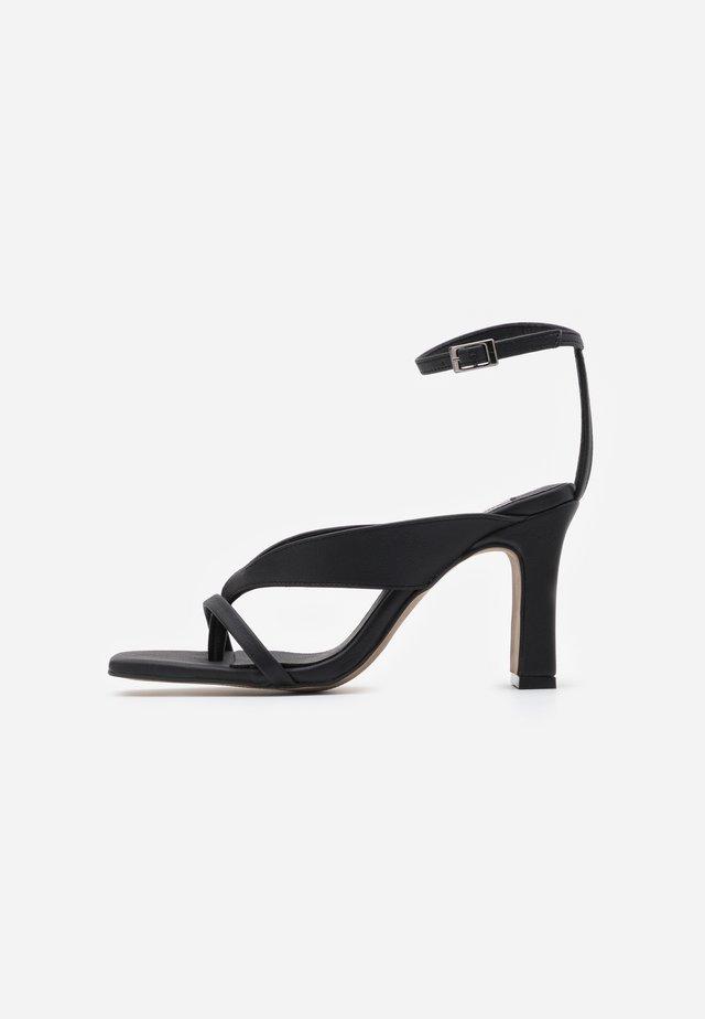 VEGAN REID STRAPPY  - Højhælede sandaletter / Højhælede sandaler - black