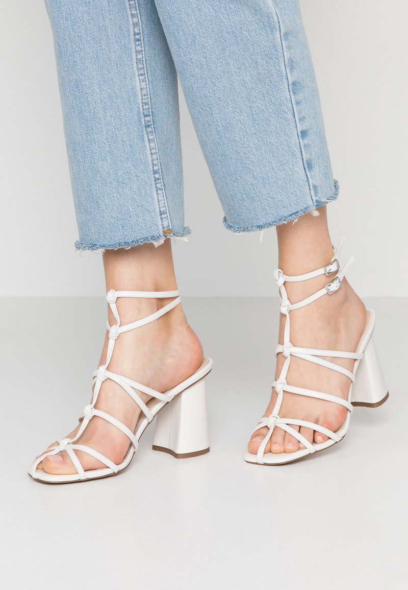 Topshop - REBELLIOUS STRAPPY - High Heel Sandalette - white