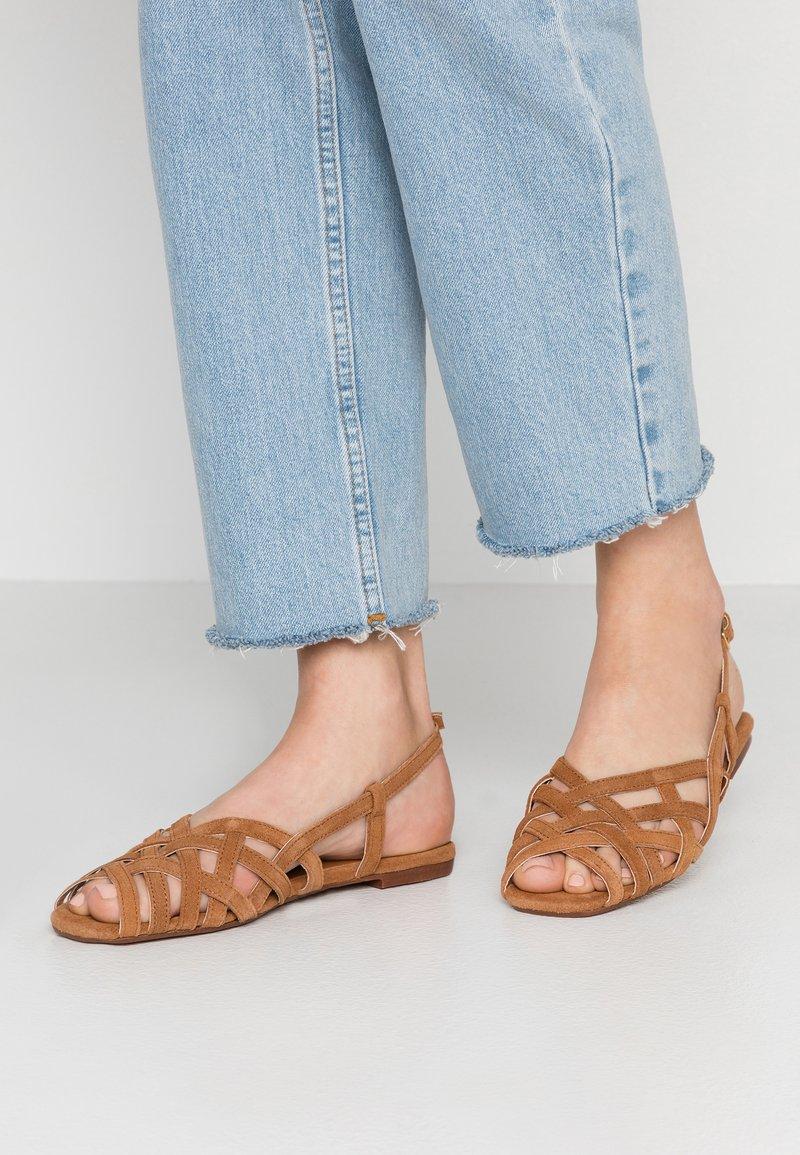 Topshop - OLIVIA STRAPPY SLING - Sandals - tan