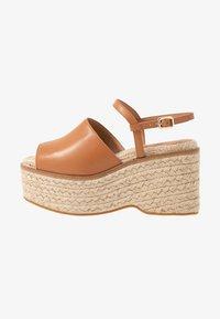 Topshop - WAKE - Sandály na vysokém podpatku - tan - 1