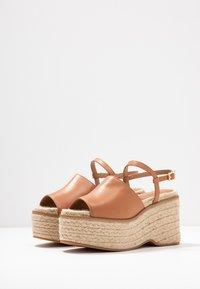Topshop - WAKE - Sandály na vysokém podpatku - tan - 4