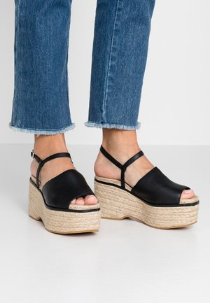WAKE - Korolliset sandaalit - black