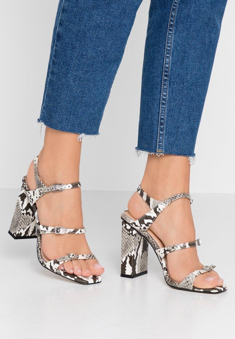 Topshop - STRAPPY - Højhælede sandaletter / Højhælede sandaler - grey