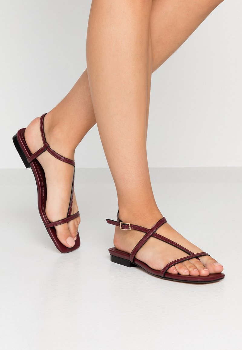 Topshop - HAVEN - T-bar sandals - burgundy