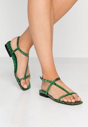 HAVEN - T-bar sandals - green