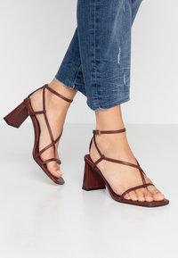 Topshop - NICO HEEL - T-bar sandals - burgundy - 0