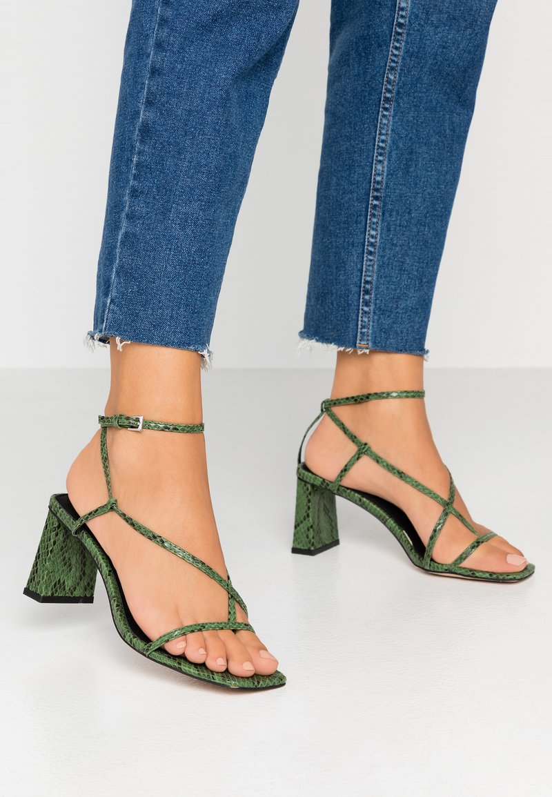 Topshop - NICO HEEL - T-bar sandals - green